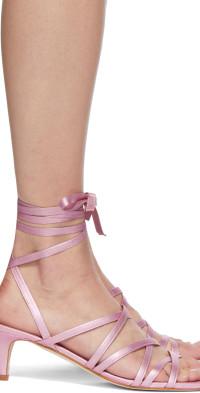 Molly Goddard Pink Metallic Cilla Sandals