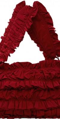 Molly Goddard Red Frill Shoulder Bag