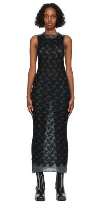 PERVERZE Black & Grey Double Knit Dress