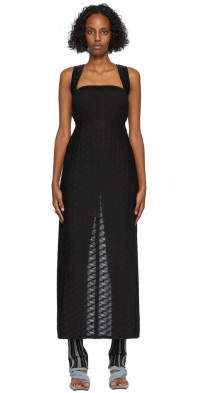 PERVERZE Black Sheer Combination Dress