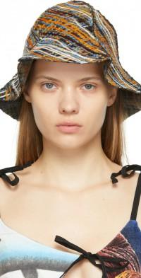 PERVERZE Multicolor Crossed Yarn Hat