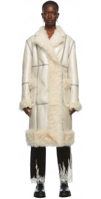 Peter Do Off-White Reversible Shearling Coat