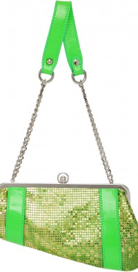 Poster Girl SSENSE Exclusive Green Chainmail Serpent Bag