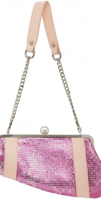 Poster Girl SSENSE Exclusive Pink Chainmail Serpent Bag