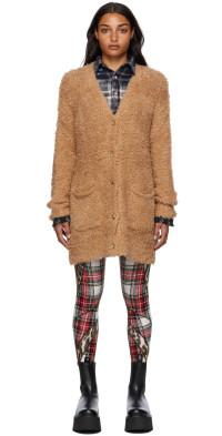 R13 Beige Merino Wool Teddy Bear Cardigan