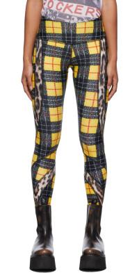 R13 Yellow Paneled Leggings