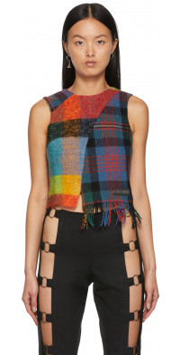 Rave Review Multicolor Macy Cropped Tank Top