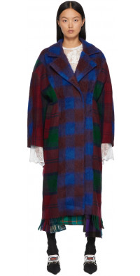 Rave Review Multicolor Sally Check Coat