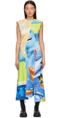 Rave Review Multicolor Terra Asymmetric Dress