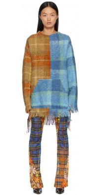 Rave Review Multicolor Ziggy Fuzzy Crewneck Sweater