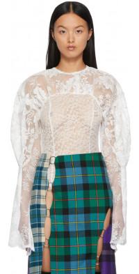 Rave Review White Gwen Lace Bodysuit