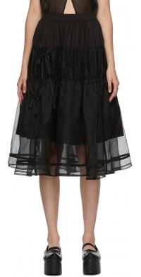 Renli Su SSENSE Exclusive Black Tiered Skirt
