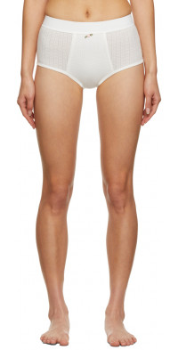 Sandy Liang SSENSE Exclusive Off-White Kinsey Briefs