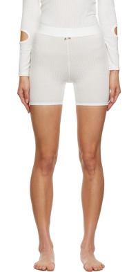 Sandy Liang SSENSE Exclusive Off-White Shrute Shorts