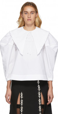 Shushu/Tong SSENSE Exclusive White Peaked Collar Blouse
