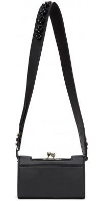 Simone Rocha Black Leather Snap Wallet Bag