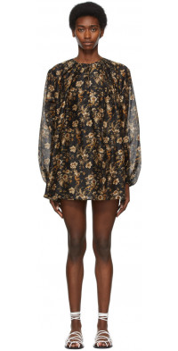 SIR. Black Amerie Mini Dress