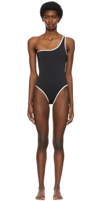 SIR. Black One-Shoulder Claude One-Piece Swimsuit