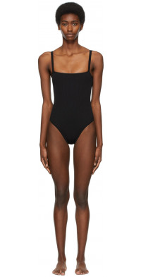 SIR. Black Square Emmanuelle One-Piece Swimsuit