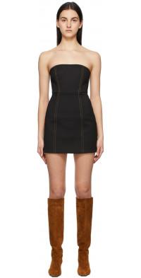 SIR. Black Strapless Andre Mini Dress