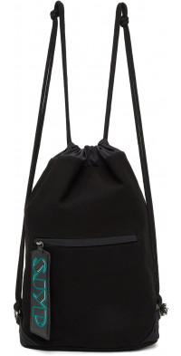 SJYP Black Canvas Backpack