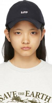SJYP Navy Back Ribbon Cap