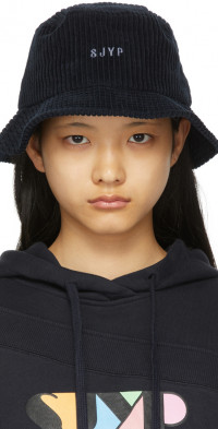 SJYP Navy Corduroy Bucket Hat