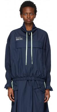 SJYP Navy Smock Sleeve Jacket