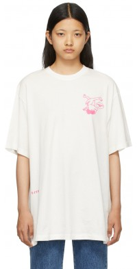 SJYP White 'Save The Earth' Dino T-Shirt