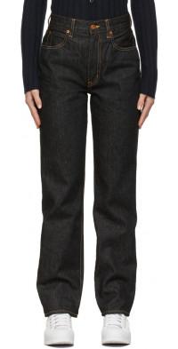 SLVRLAKE Navy London Straight Jeans