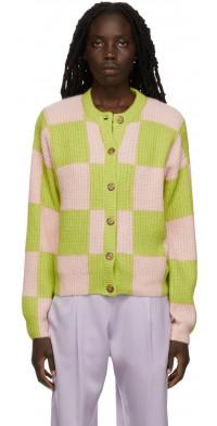 Stine Goya Pink & Green Harry Cardigan