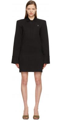The Attico Black Irene Mini Dress