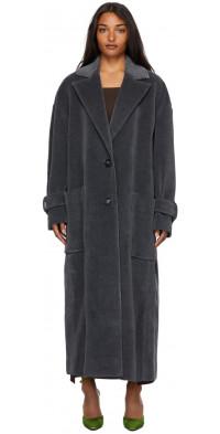 The Attico Velvet Furry Coat