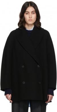 The Row Black Polli Coat