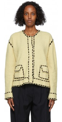 TheOpen Product Beige Stitch Cardigan