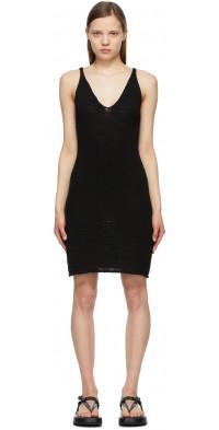 TheOpen Product Black Cotton Knit Dress
