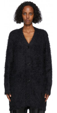 TheOpen Product Black Hairy Long Cardigan