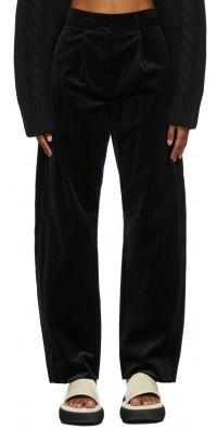 TheOpen Product Black Velvet Rounding Trousers