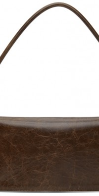 TheOpen Product Brown Flat Crinkled Shoulder Bag