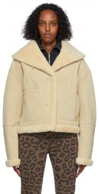 TheOpen Product Reversible Beige Fleece Jacket