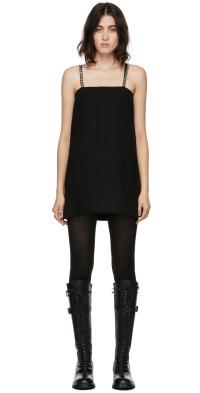 We11done Black Wool Oversize Mini Dress