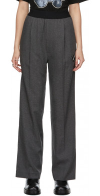 We11done Grey Logo Trousers