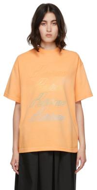 We11done Orange Iridescent Logo T-Shirt