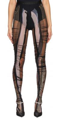 Y/Project Black Lace Strip Tights