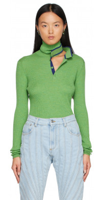 Y/Project Green Double Neck Sweater