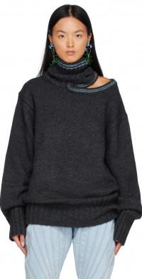 Y/Project Grey Alpaca Double Neck Sweater