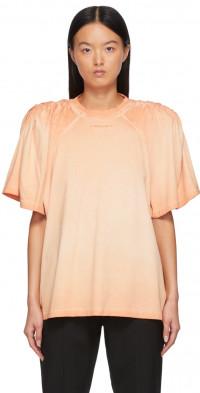Y/Project Orange Ruched Shoulder T-Shirt