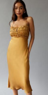 ASTR The Label Zola Satin Slip Dress