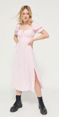 Faithfull The Brand Evelyn Floral Puff Sleeve Midi Dress