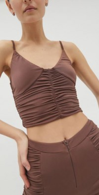 I.AM. GIA Estella Ruched Cropped Top
